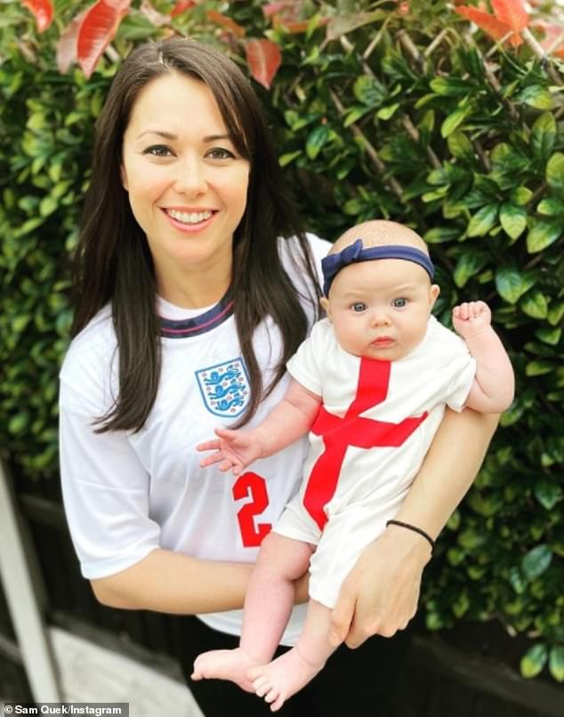 Baby mama: Sam's due date is just two weeks after her daughter Molly (pictured) got single on March 2