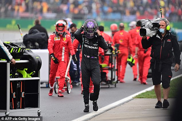 Mercedes team principal Toto Wolff claimed that Hamilton (middle) was defeated on lap 42.  but should have come out