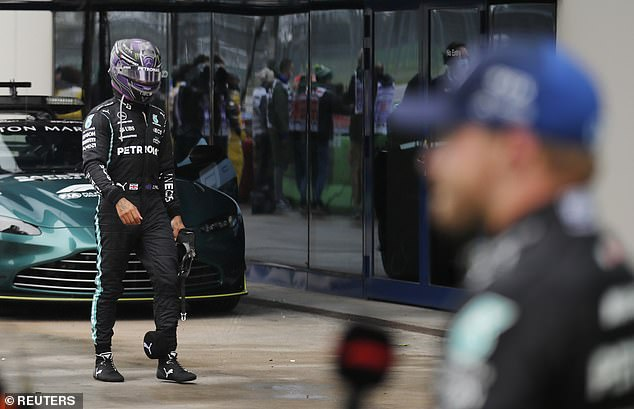 Hamilton swore to his team on team radio and told his pit wall to 'leave me alone' after the race