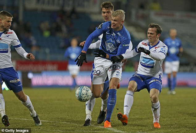 Erling Haaland came 'close' to joining Juventus while he was at Molde (pictured in 2018)