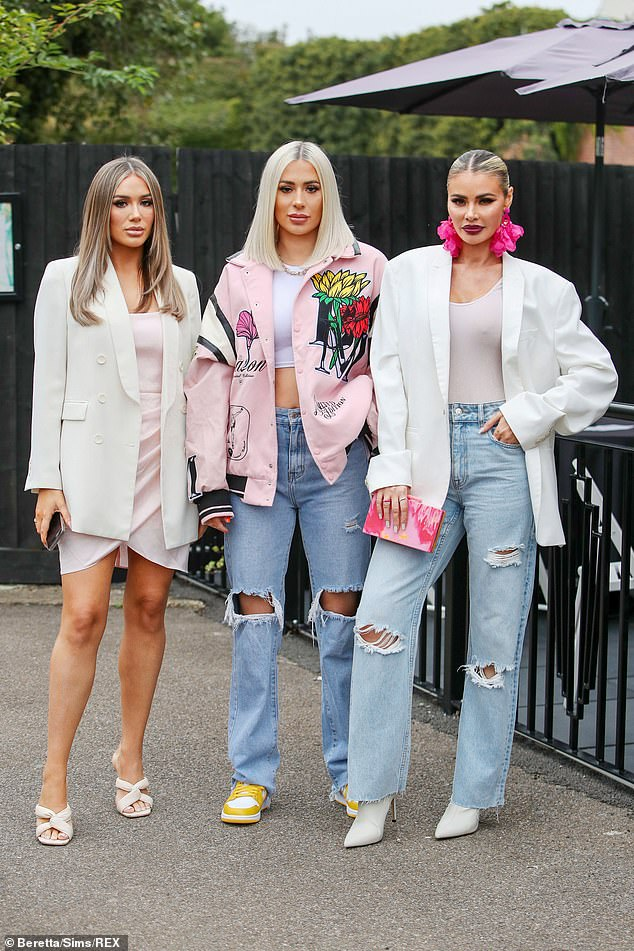 , Amber Turner and Amy Childs look glamorous as they film TOWIE scenes with Love Island's Joe Garratt, The Today News USA