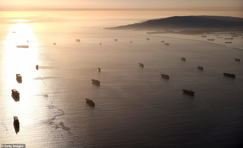 There are dozens of cargo ships waiting off the coast of Los Angeles and Long Beach, storing millions of dollars of goods on board, which is contributing to the nationwide shortage of goods in stores