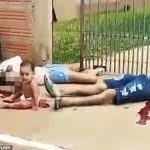 Baby is found sitting in his parents' blood after the teenage couple were shot dead in Brazil 💥👩💥