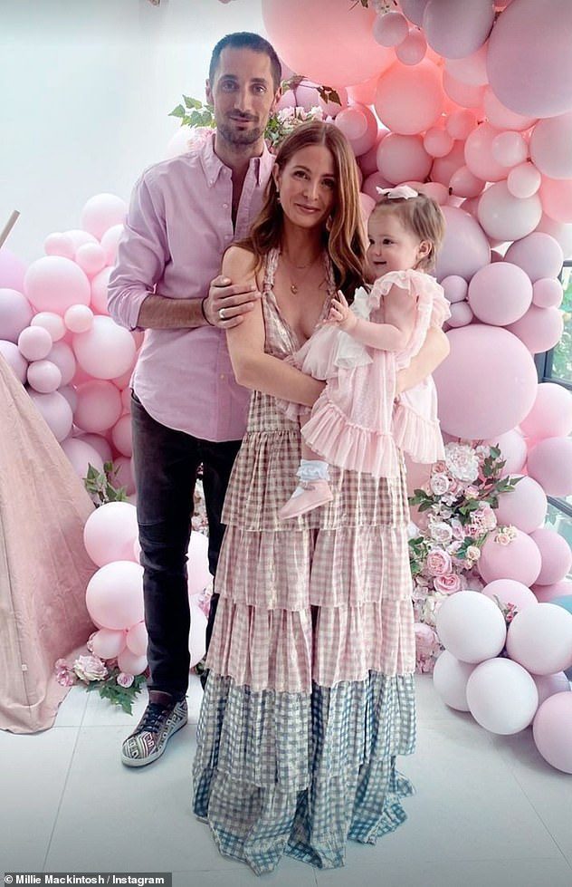, Pregnant Millie Mackintosh shows off her bump in a cut-out midi dress after hospital dash, The Habari News New York