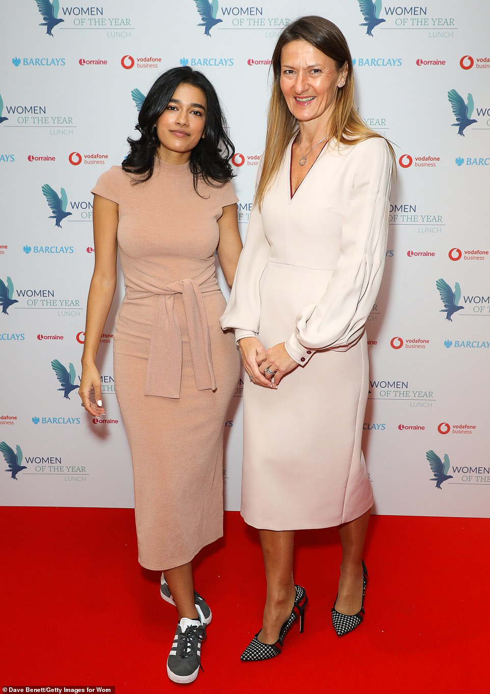 Side by side:Mursal Hedayat and Lisa Francis attend the Women of the Year Lunch & Awards on Monday afternoon