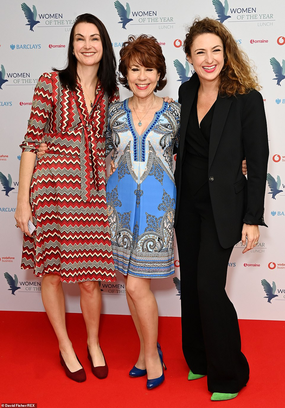Three's company: (L-R)Jo Baring, Kathy Lette and and Katrin McMillan pose for a photo at Monday's event