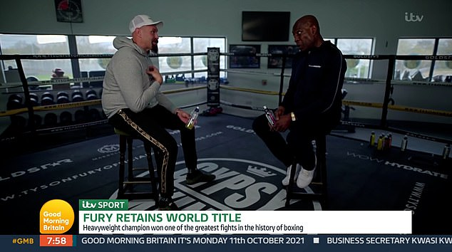 Sit-down chat: Earlier this month Frank sat down with Tyson to discuss his battle with mental health