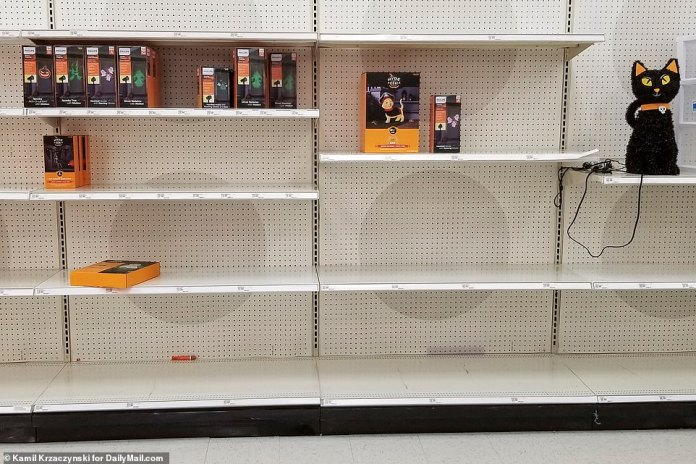 ILLINOIS: At this Target in Arlington Heights, Connecticut, the Halloween section was woefully understocked