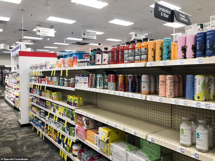 TEXAS: The shelves of a CVS in Dallas were sparse on Monday, like other pharmacies around the country