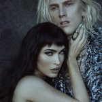 Megan Fox poses in just a pistol holster while Machine Gun Kelly dons thigh-high boots in GQ shoot💥👩💥💥👩💥