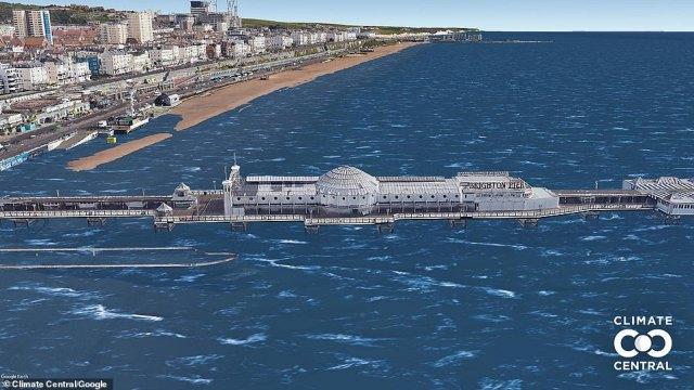 Brighton Palace Pier under 5.4F increase