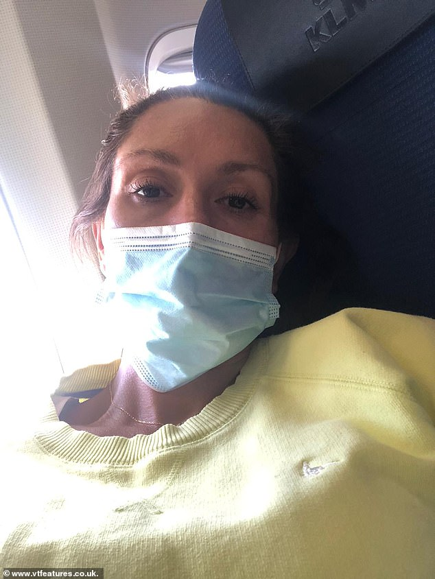 In November 2019, Natalie flew to France, where a pelvic pain specialist ran a color ultrasound scan that revealed her pudendal nerve was trapped.  Image: Dealing with pain during flight