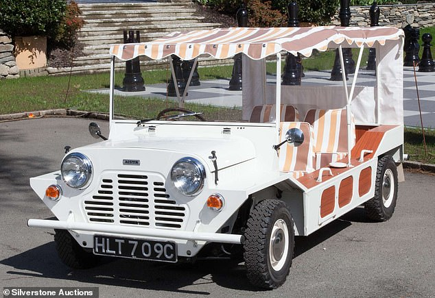 Silverstone Auctions, which is offering the unique vehicle at the NEC Classic Motor Show Sale on 13 November, says it is 'undoubtedly the most famous Mini Moke in the World'