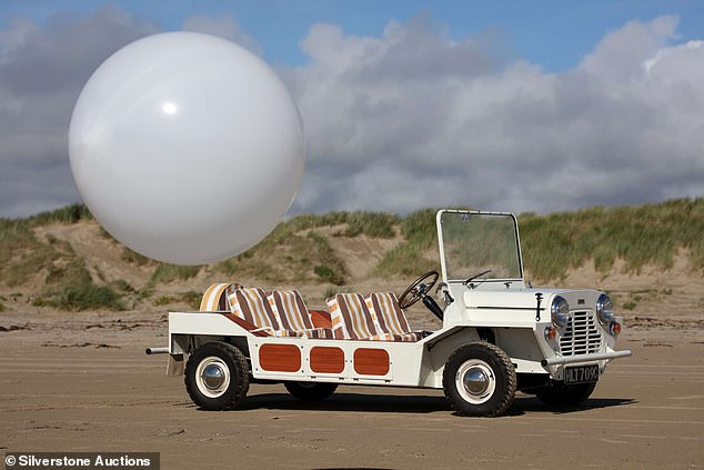 A rare Mini Moke that featured in cult sixties TV series The Prisoner is to be auctioned next month in the UK