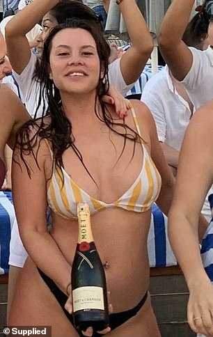 Ms Leonette (pictured in Bali in 2019) began drinking at the age of 15 and quickly developed a toxic relationship with alcohol.