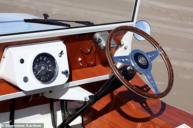 When the car was uncovered a decade ago, it did have some vestiges of the Wood & Pickett 'wood' trim remaining but 'it resembled lino', according to Caunt. It has been fully restored