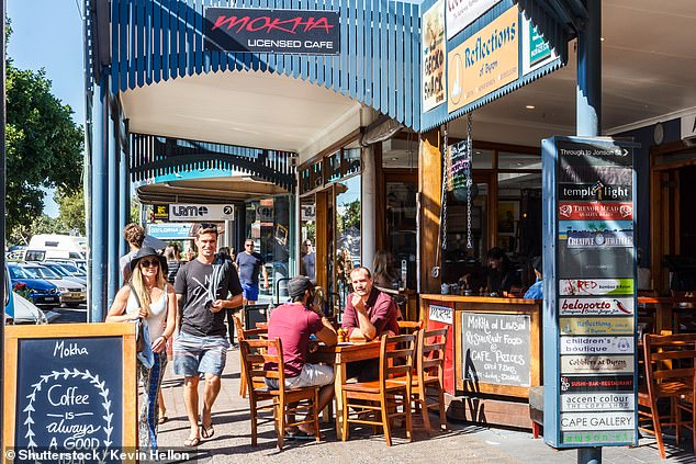Sydneysiders desperate to leave the city after four months of lockdown face delayed holidays due to lower vaccination rates in regional NSW. Pictured: Byron Bay in Northern NSW