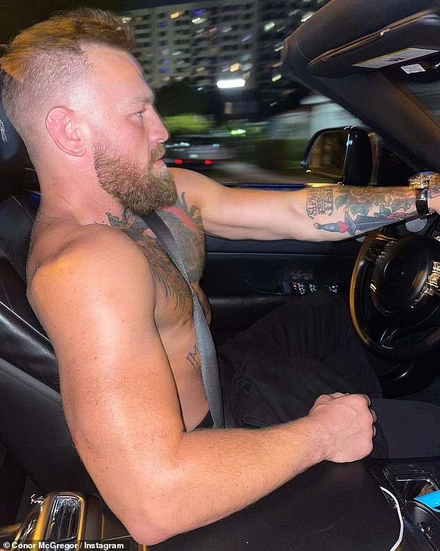 The Support: Connor's late-night drive comes after the thrilling climax of their trilogy in Las Vegas on Saturday night took to social media Sunday to cheer on Tyson Fury and Deontay Wilder.