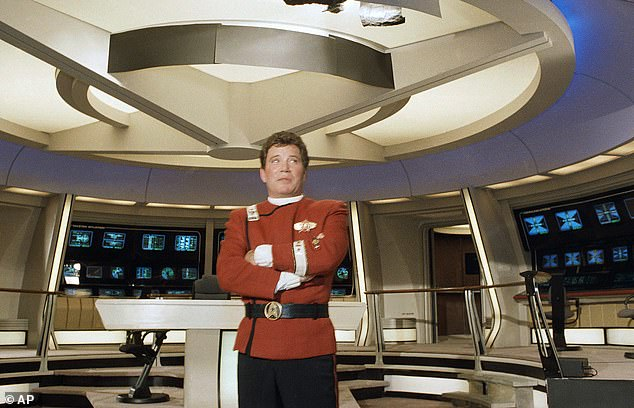 The Canadian actor rose to fame when he played James T Kirk in the original Star Trek series in 1966.  Pictured here in the 1988 film Star Trek V: The Final Frontier.