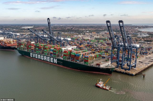 Maersk, the world's largest shipping firm, says it is diverting bigger ships away from the UK due to the delays at the dockside because it is quicker to avoid Felixstowe and move goods via France to Dover or to smaller UK ports such as Hull