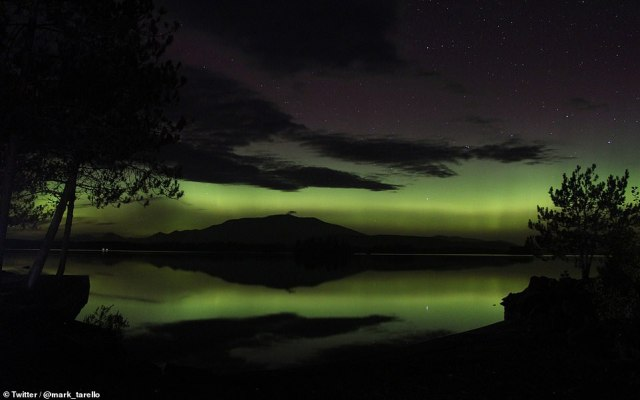 Last night's lights were visible as far as New York in the United States, and in Scotland, Northern Ireland, and parts of northern England in the United Kingdom.  Photo: Aurora Above Mine, USA.