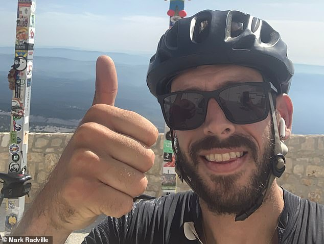 Mr Radville said he is a keen cyclist and often rides up to 350km a week on his £5,500 bicycle