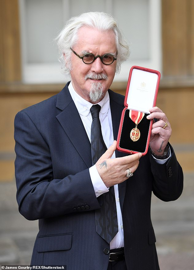 Sir Billy! TV shows, documentaries, international fame and award-winning Hollywood movies saw the star knighted in 2017 (pictured)