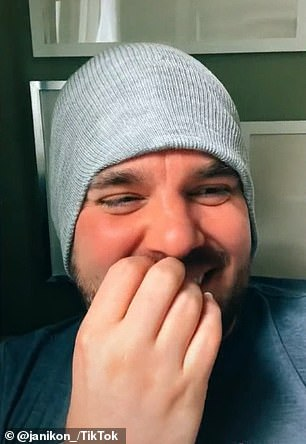 Funny: Jeffrey was laughing so hard at the end of the video that he was close to tears, saying he was