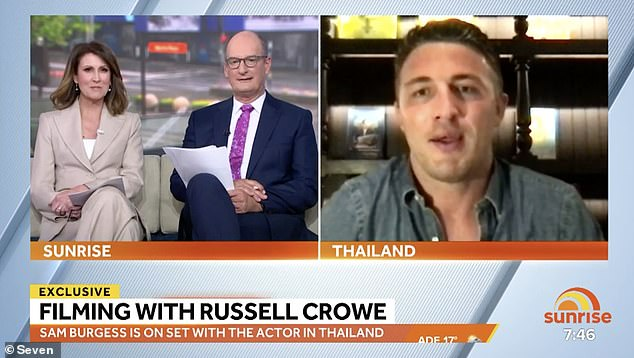 The 32-year-old told Channel Seven's Sunrise on Wednesday, he worked with Russell Crowe on a film in Sydney where he earned 'a basic wage'