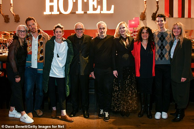 coming soon!  (L to R) Directors Jen, Benedict, cinematographer Ari Wegner, producer Roger Frappier, producers Ian Canning, Kirsten, producers Tanya Seghchian, Cody and Edith Bowman pose for a group shot
