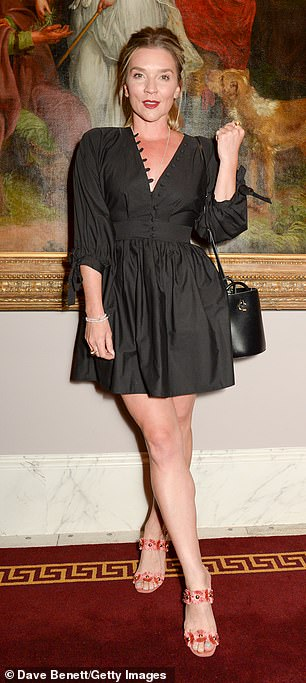Wow!  Meanwhile, Candice Brown in a black mini dress put a leggie on display as the pair headed to the stars at a preview event