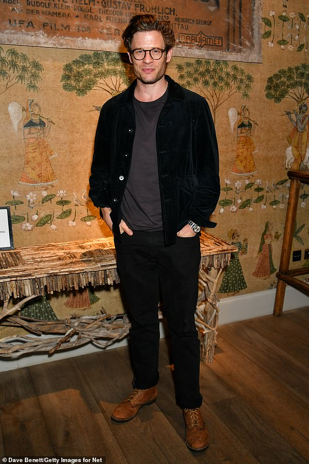 Withdrawn: Happy Valley actor James Norton looked casual in a black jacket and jeans