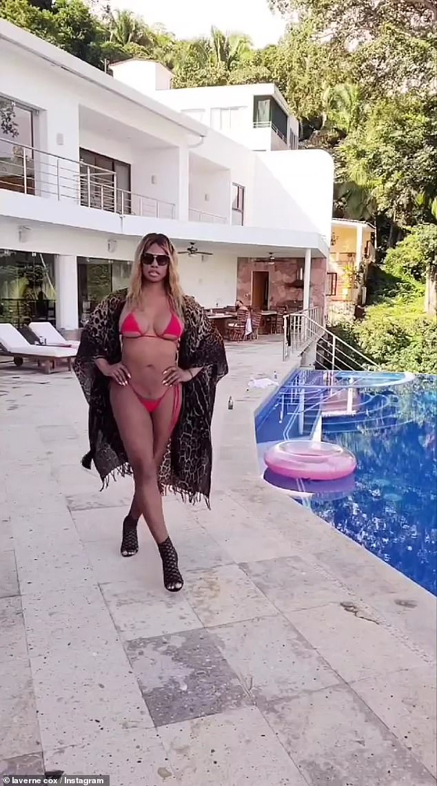 , Laverne Cox leaves little to the imagination in a red string bikini during vacation, The Today News USA