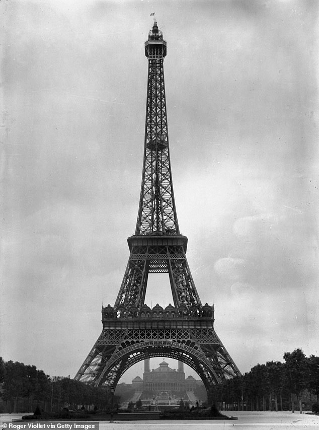 A token of his love:The plot claims a chance encounter between the pair later in life inspired Eiffel to create the tower, even drawing inspiration from Adrienne's initial for the 'A' frame
