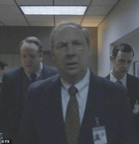Starr: Kenneth Starr (Dan Bakkedahl) tells Emmick and Jackie Bennett (Darren Goldstein) that their jurisdiction has been broadened to include Monica Lewinsky