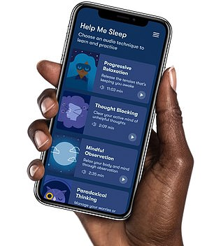 Made for insomnia sufferers, Sleepio is a six-week programme that includes a 20 minute session with a virtual sleep expert each week and sleep tracking. One in six Britons suffer from sleep problems, but experts have warned the pandemic pushed the figure up to one in four