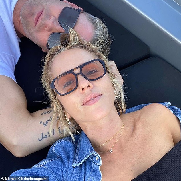 Do blondes have more fun? Pip's impromptu snap follows rumours she's back on with ex-boyfriend Michael Clarke (both pictured)