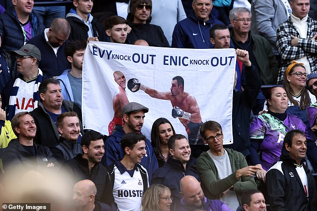 There have been protests from some Spurs fans calling for Daniel Levy and the owners to go