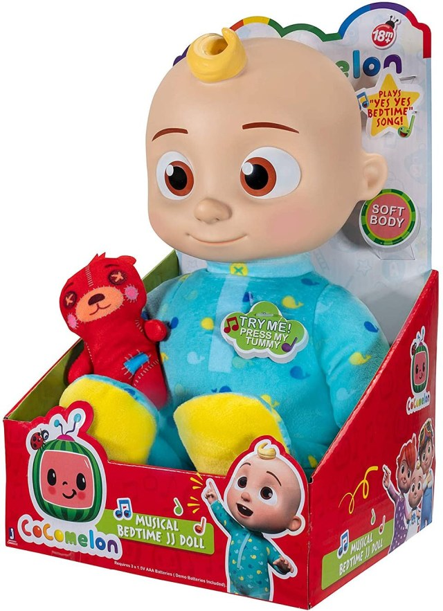 The Cocomelon Musical Bedtime JJ doll is a hoped-for toy which has an RRP of £28, and is going for up to £109 on eBay