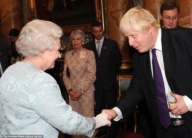 Boris Johnson during a reception hosted by Queen Elizabeth II and Prince Philip, Duke of Edinburgh at Buckingham Palace for the 2008 Great Britain Olympic Team