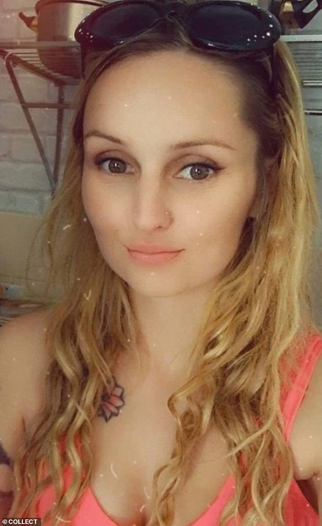 Coventry Crown Court heard how Tustin (pictured), 32, had taken the youngster to a house to get her hair and lashes done when she messaged her boyfriend: 'I had to tell Arthur off for messing