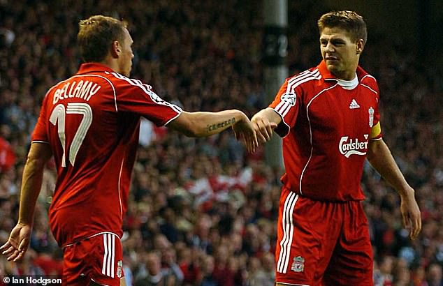 Stewart Downing has opened up on a clash between Steven Gerrard (right) and Craig Bellamy (left) in the Liverpool dressing room, with Gerrard telling Bellamy to 'f***ing shut up'