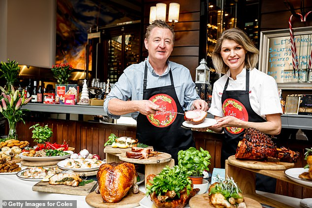Celebrity chefs Luke Mangan and Courtney Roulston launched Coles Christmas range which includes a favourites and a few weird and wonderful new options - including the 'turducken'