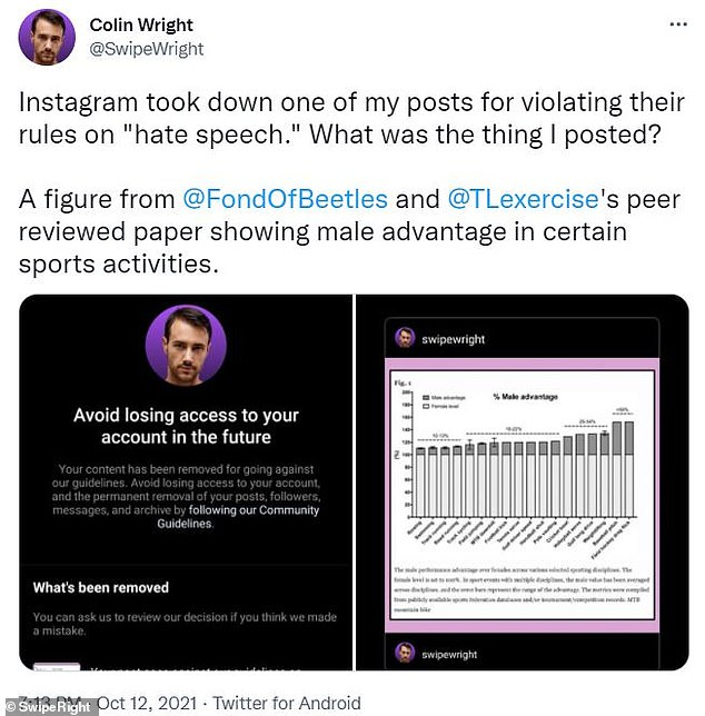 , Instagram censors evolutionary biologist over post about transgender study in Olympic sports, The Today News USA