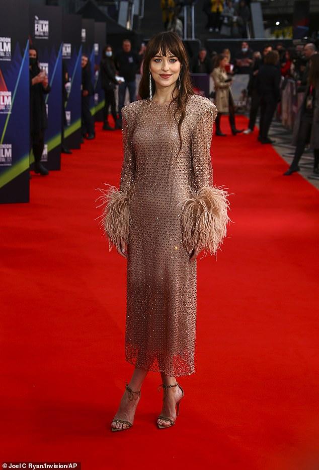 Event: Dakota Johnson donned a champagne dress
