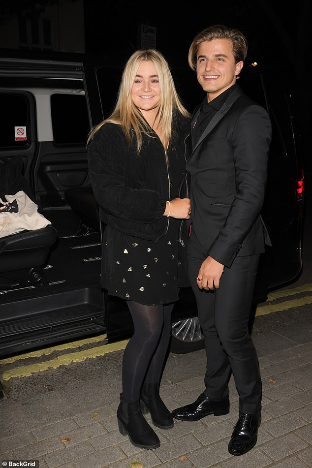 Chummy:Tilly Ramsay and Strictly Come Dancing partner Nikita Kuzmin looked jovial as they shared a laugh and a hug outside the It Takes Two studios on Wednesday evening