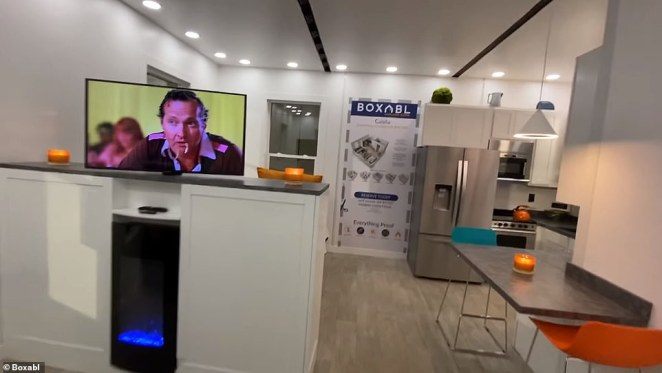 The 50-year-old revealed in a tweet that the rented home is worth about $50,000 - less than the cost of a base Tesla Model S(Pictured: A Boxabl Casita similar to the one Musk is said to be renting)