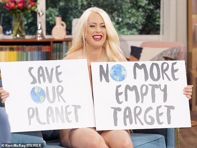 Laura, who has the nickname Climate Tits, has gained an online following for appearing topless at Extinction Rebellion marches