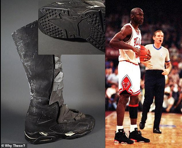 Collated by Why These?, the repurposed items include Nike Air Jordan 6 trainers that were apparently turned into Batman's hefty-looking shoes in Batman Returns (1992)