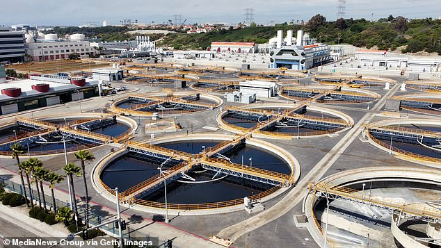 A 2019 EWG study found that 40 percent of water systems in 72 California counties exceeded the EPA's recommended limit on PFAS.  Pictured: Hyperion Water Reclamation Plant, a wastewater treatment center in Los Angeles